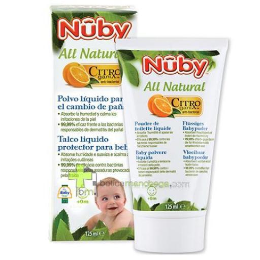 Polvo Líquido en Crema para bebés Nûby Citroganix™ +0M, 125 ml
