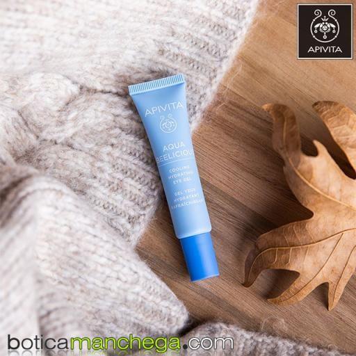 Aqua Beelicious Gel Hidratante y Refrescante para el contorno de ojos con extracto de Flores y Miel, 15 ml. REGALO: Express Beauty Mascarilla para el Contorno de Ojos Eye Mask A Elegir, 2 ml [3]