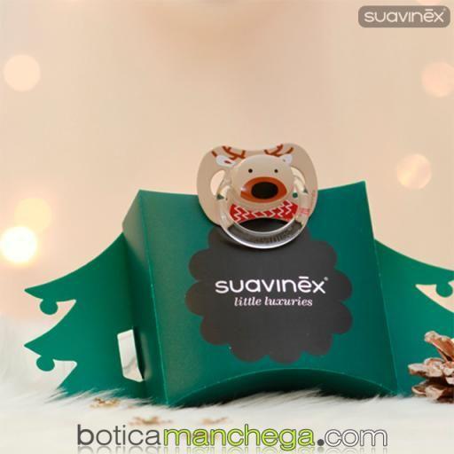 Chupete WINTER/NAVIDAD Suavinex Modelo Reno Rudolph, Tetina Anatómica Látex y Fisiológica Silicona [1]