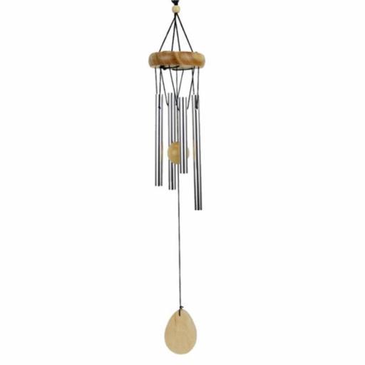 Campana del viento con gota de madera [0]