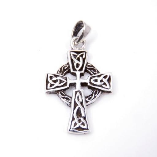 Colgante cruz celta pequeña de plata