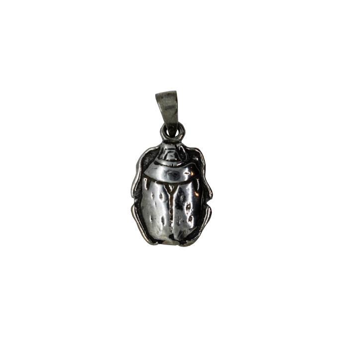 Colgante escarabajo egipcio de plata