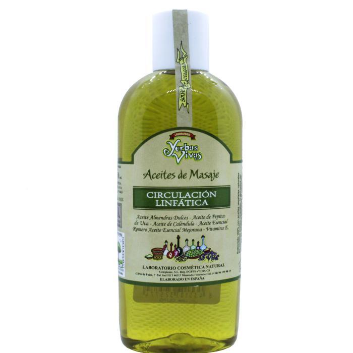 Aceite de masaje circulación linfática