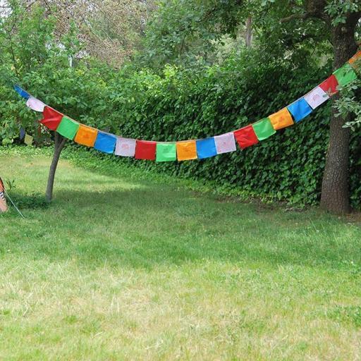 Bandera tibetana del Nepal mediana [1]