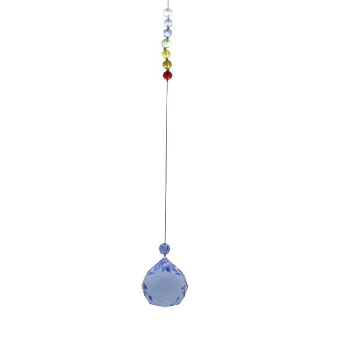 Bola feng shui azul con chakras