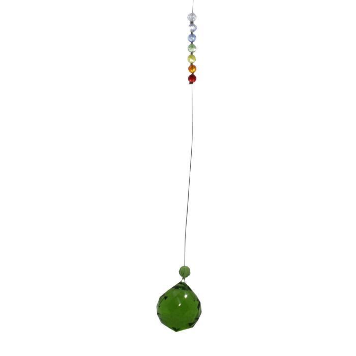 Bola de feng shui verde con chakras