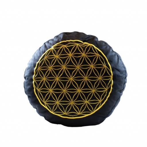 Cojín de meditación símbolo flor de la vida Yogi & Yogini