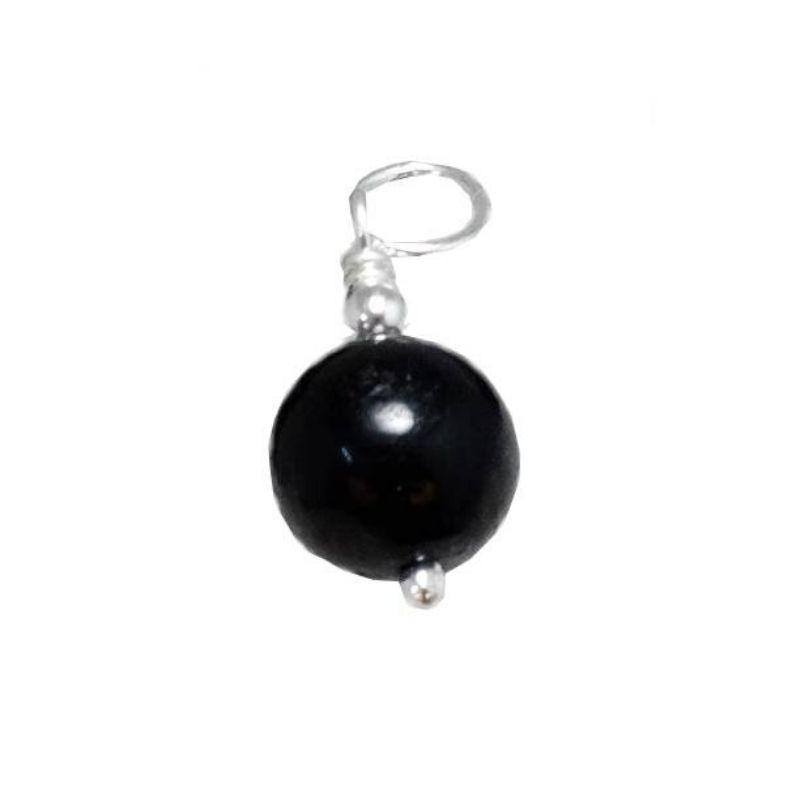 Colgante Bola de Turmalina negra