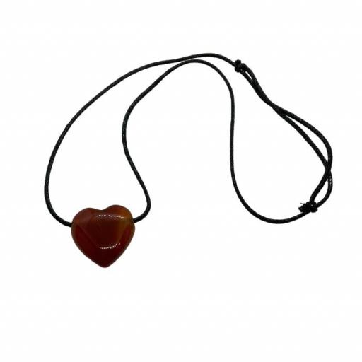Colgante corazón de carneola [0]
