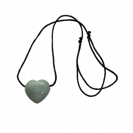 Colgante corazón de jade