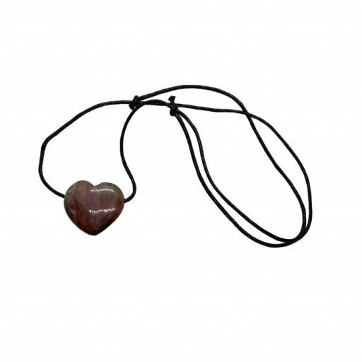 Colgante Corazón de Rodonita