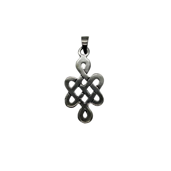Colgante nudos celtas corazones de plata
