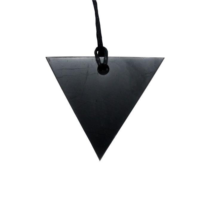 Colgante triángulo invertido de shungit