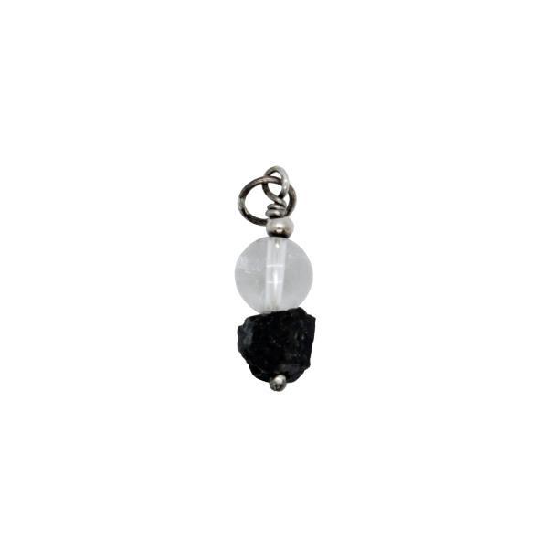 Colgante de turmalina negra y cristal de roca
