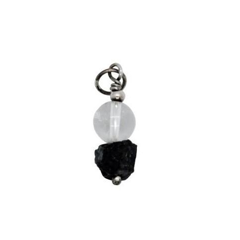 Colgante de turmalina negra y cristal de roca [0]