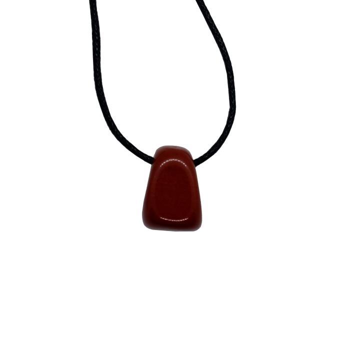 Colgante mineral perforado de jaspe rojo