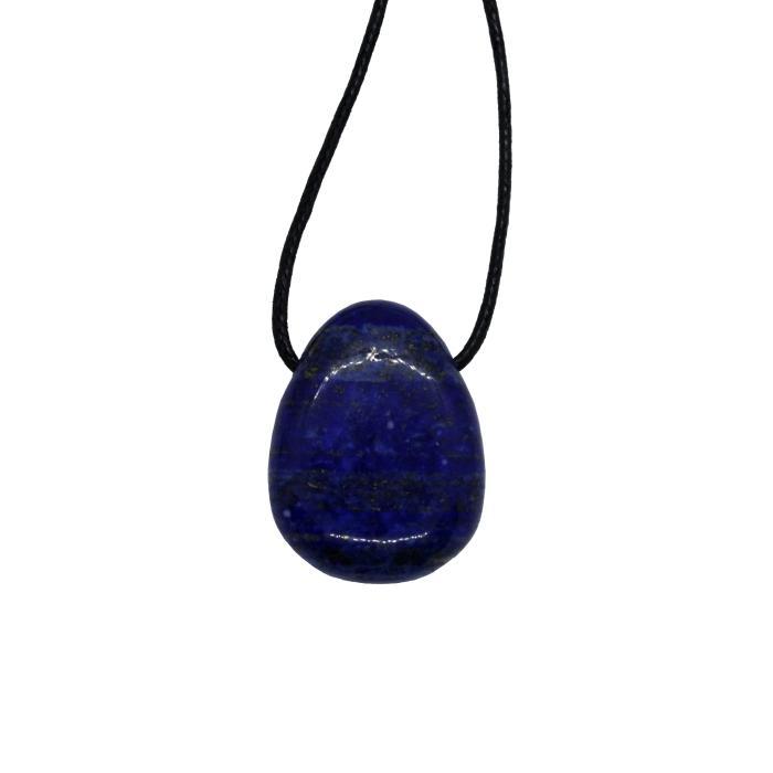 Colgante mineral perforado de lapislázuli