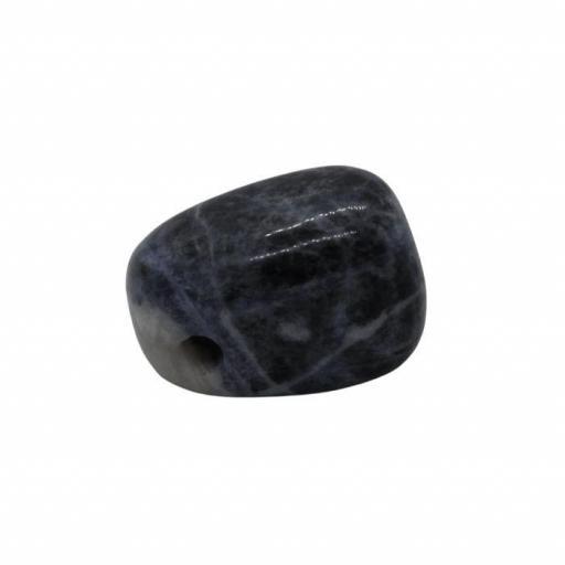 Colgante mineral perforado de sodalita