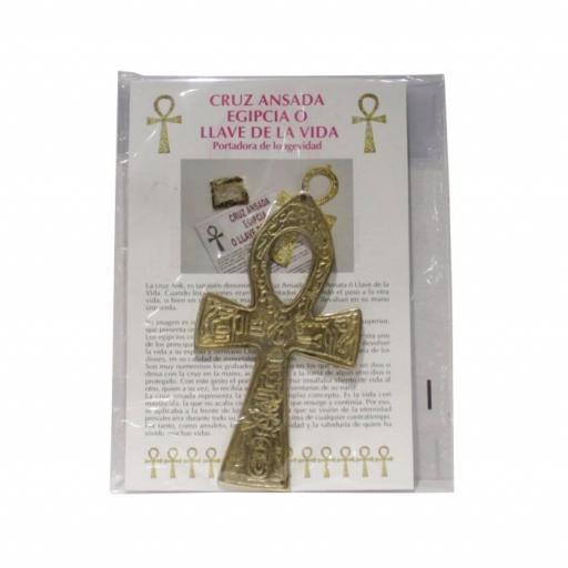 Cruz egipcia Ankh de metal 10 cm