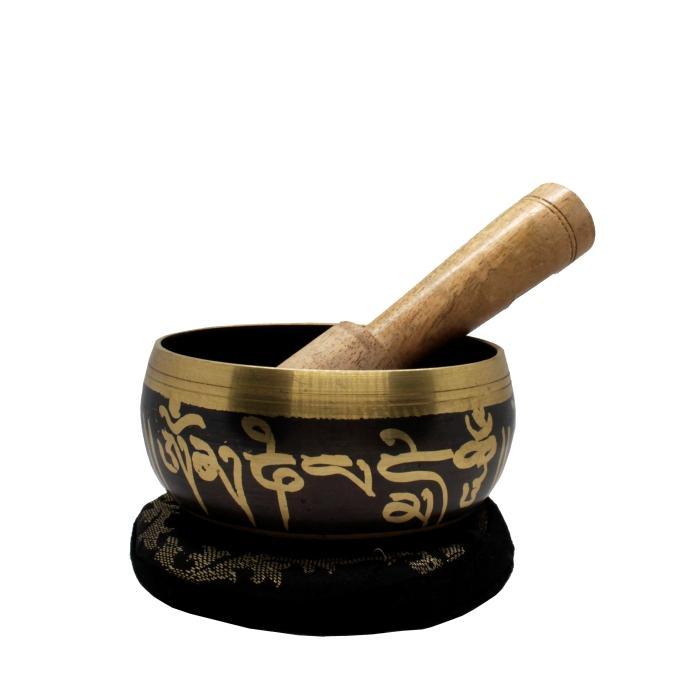 Cuenco tibetano labrado 5 metales