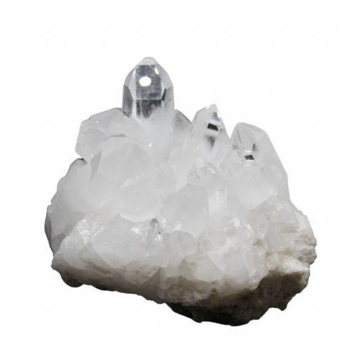 Drusa mineral de cuarzo blanco
