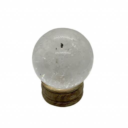 Esfera mineral de cristal de roca