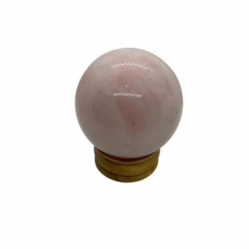 Esfera de cuarzo rosa
