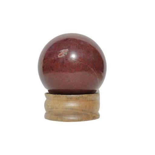 Esfera mineral de jaspe rojo