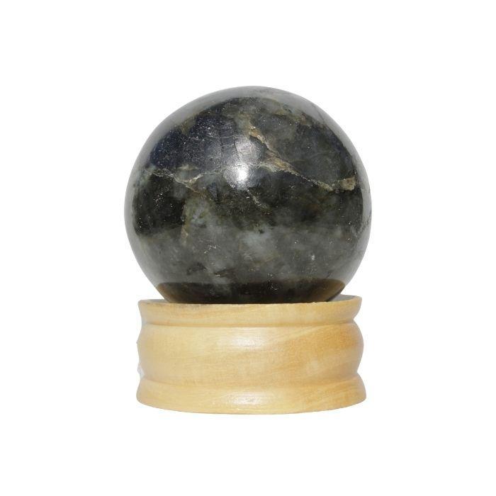 Esfera mineral de labradorita