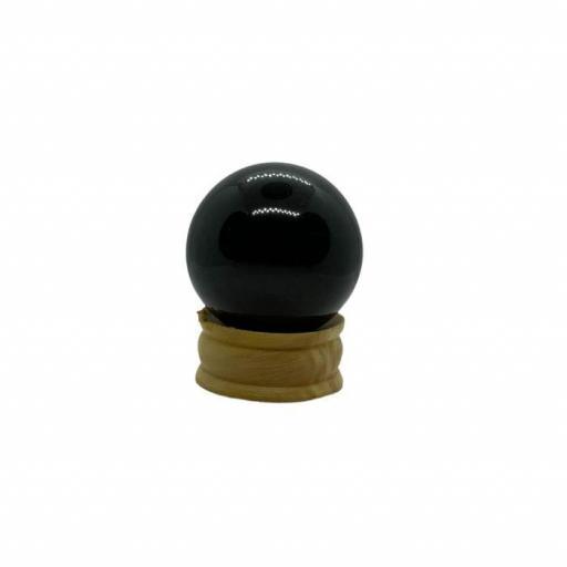 Esfera mineral de obsidiana negra [1]