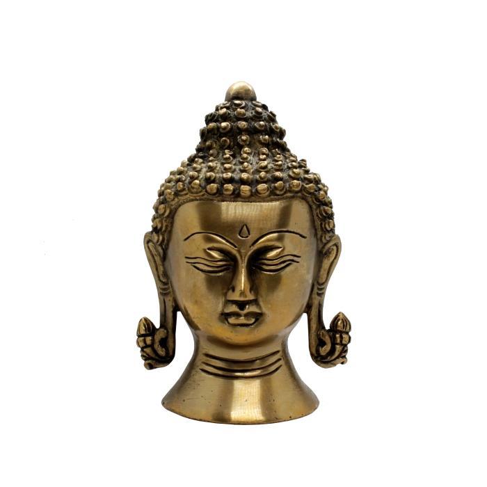 Figura cabeza buda de bronce