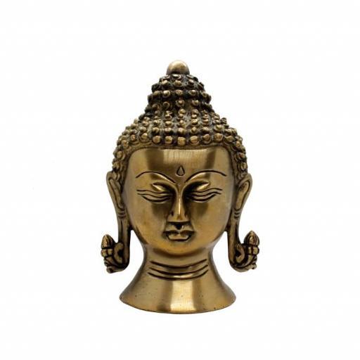 Figura cabeza buda de bronce [0]