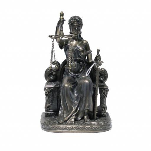 Figura Diosa de la justicia en Trono