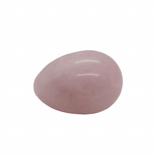 Huevo Vaginal Agujereado Pequeño de Cuarzo Rosa