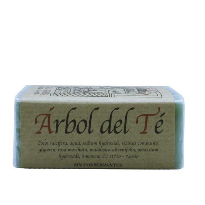 Jabón artesanal de árbol del té