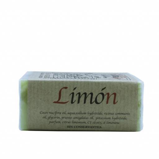 Jabón artesanal de limón