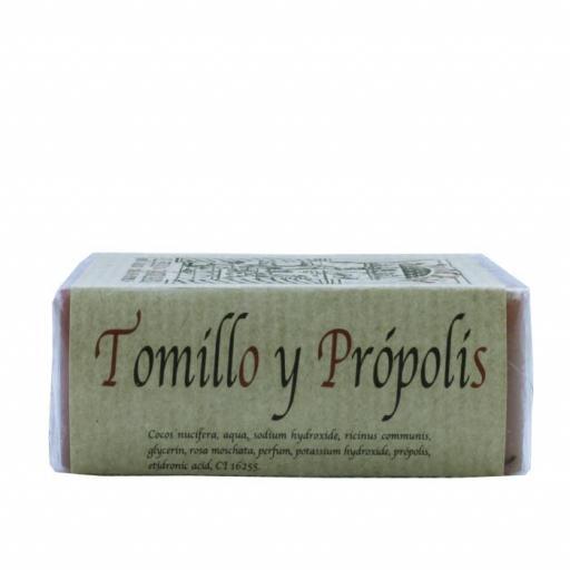 Jabón artesanal de tomillo y própolis