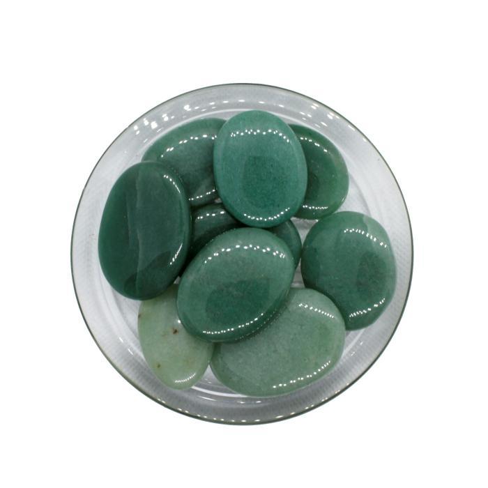 Mineral canto rodado plano de cuarzo verde