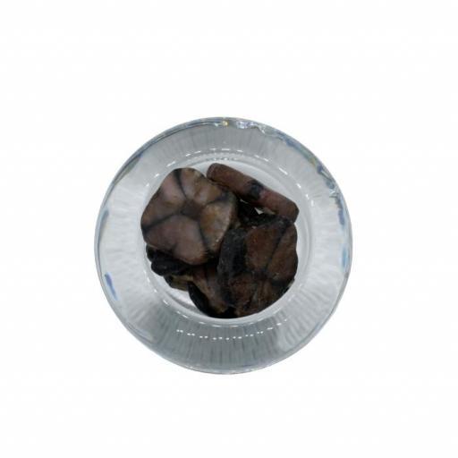 Mineral canto rodado plano de quiastolita