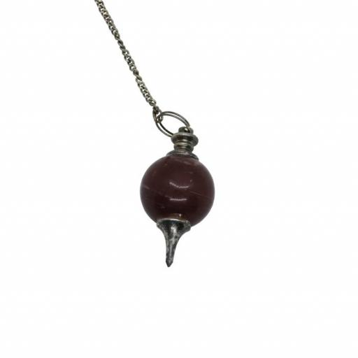 Péndulo bola mineral de jaspe rojo