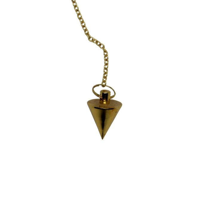 Péndulo triangular de metal