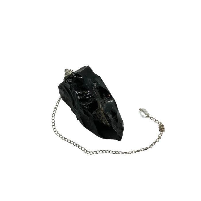 Péndulo de Obsidiana Negra en Bruto