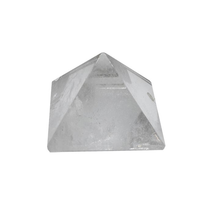 Pirámide de cristal de roca de 4 x 4 cm