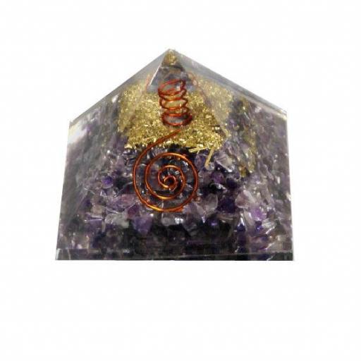 Pirámide de Orgonite y amatista grande [0]