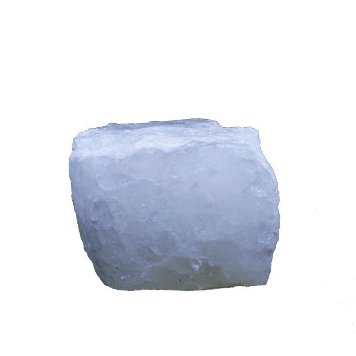 Portavelas mineral de cuarzo blanco
