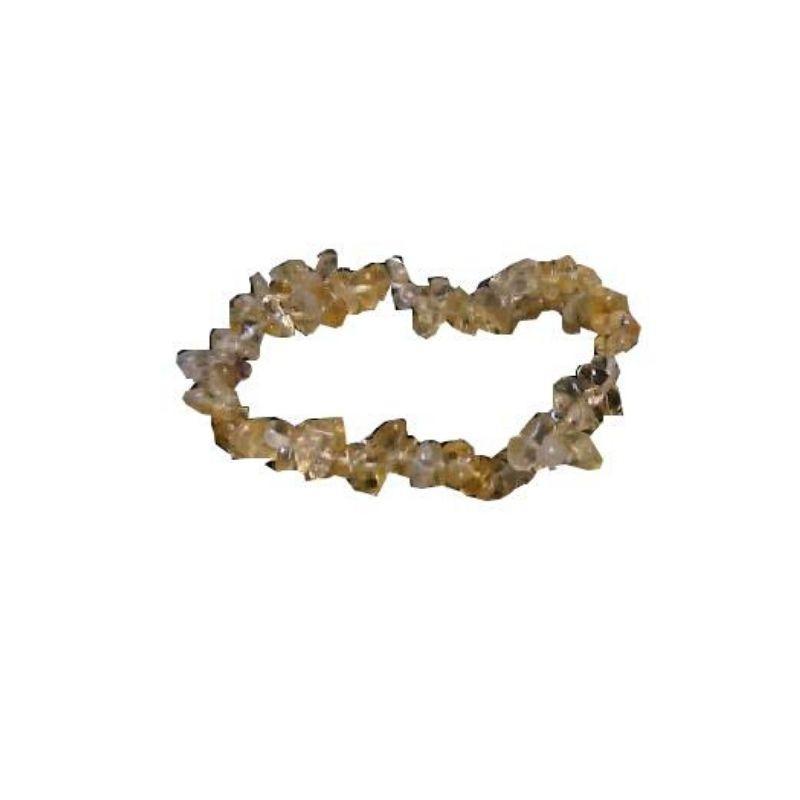 Pulsera mineral chip de cuarzo citrino