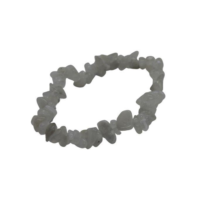 Pulsera mineral chip de piedra luna