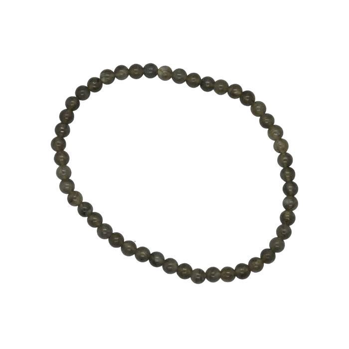 Pulsera Mineral Bolas de 4 mm de Labradorita