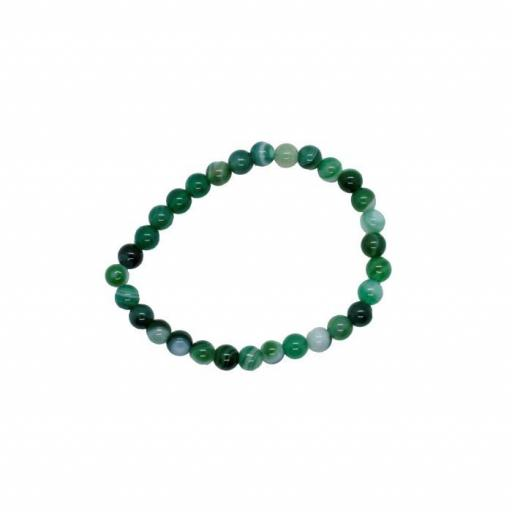 Pulsera Bolas de 4 mm de Ágata verde [0]