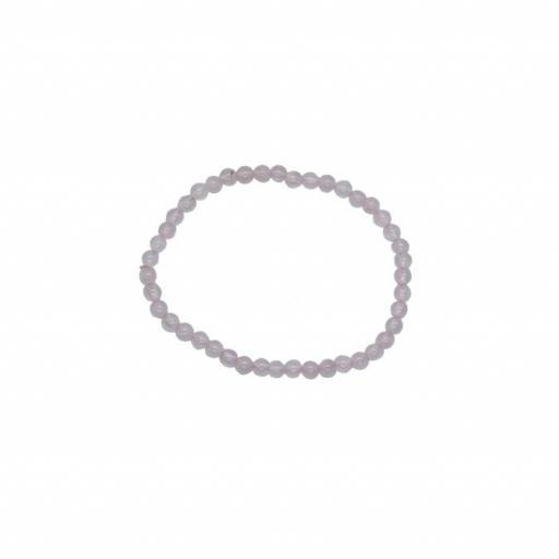 Pulsera mineral bola 4 mm de cuarzo rosa